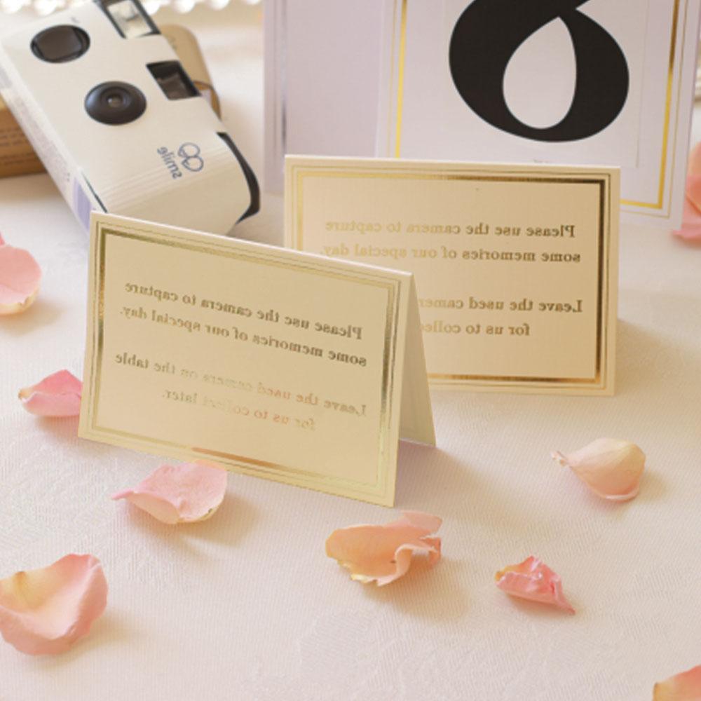 Cards for Wedding Cameras