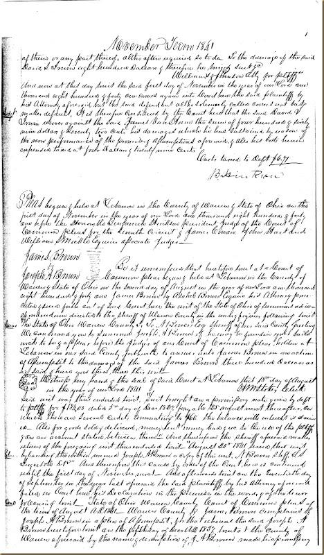 David S. Irwin sues James VanHorne 1841 4