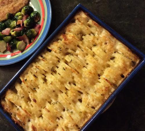 Ziemniaki, zapiekanka ziemniaczane, ser, obiad przepis, zioła