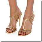 Diane von Furstenberg gold sandals (half price)