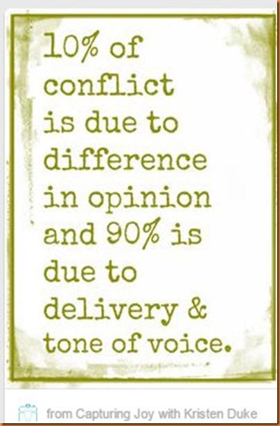 conflict tone