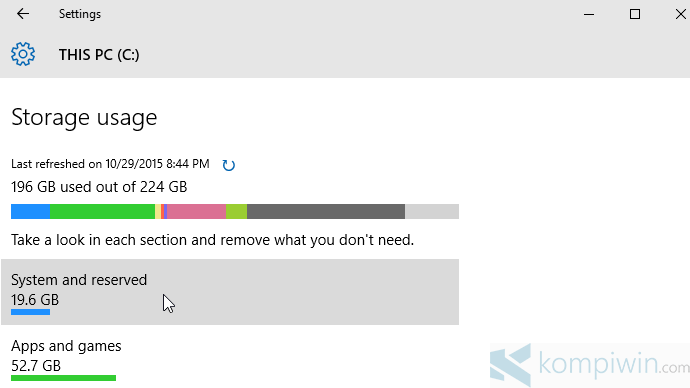 storage sense di windows 10
