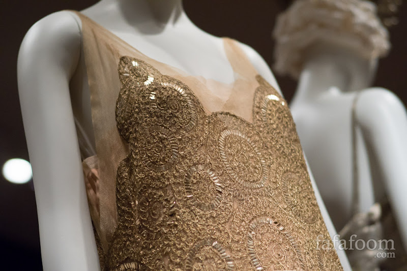 Detail shot of Jeanne Lanvin, Evening dress, 1923.