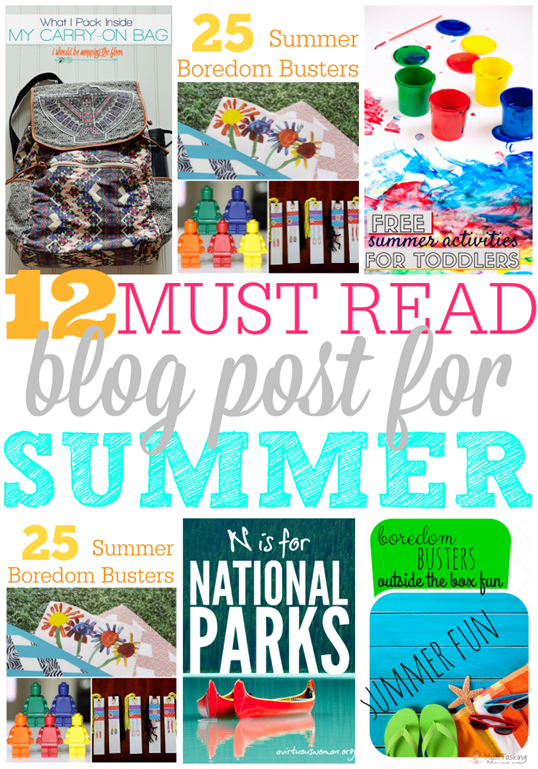 12 Must Read Blog Post for Summer at GingerSnapCrafts.com #linkparty #features