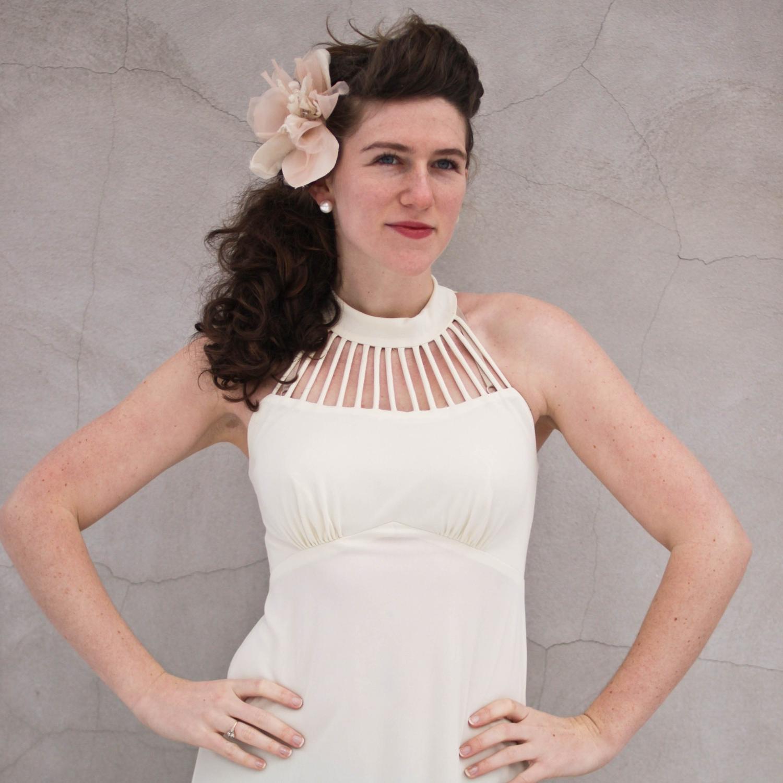 vintage greek goddess gown. M