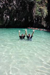 Jenny & I at the Emerald Cave Lagoon