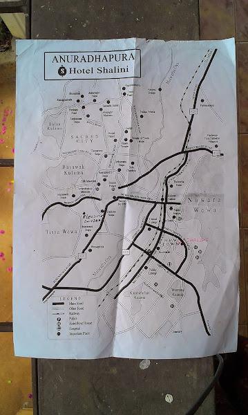 карта Анурадхапуры, Шри-Ланка