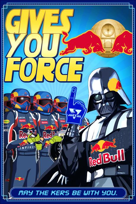 постер на тему Star Wars Red Bull и Себастьяна Феттеля от somsombob