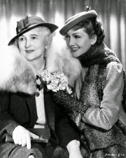 Claudette Colbert and mother