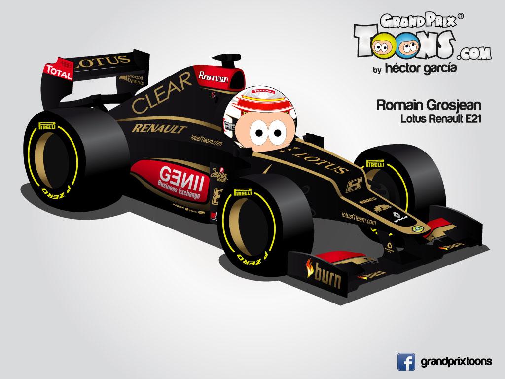 Ромэн Грожан 2013 Lotus E21 Grand Prix Toons