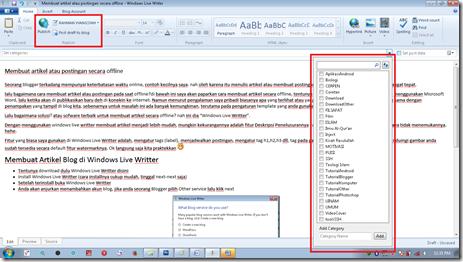 Membuat artikel atau postingan secara offline