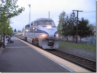 IMG_5819 Amtrak F59PHI #461 in Salem, Oregon on April 3, 2007