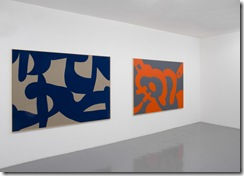 Carla-Accardi-Orange2005-vinyl-on-canvas-160x220-cm.-Towards-Blue-2007-vinyl-on-canvas-160x220-cm-