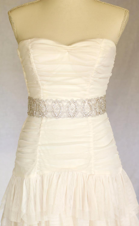 Eden Rhinestone bridal sash,