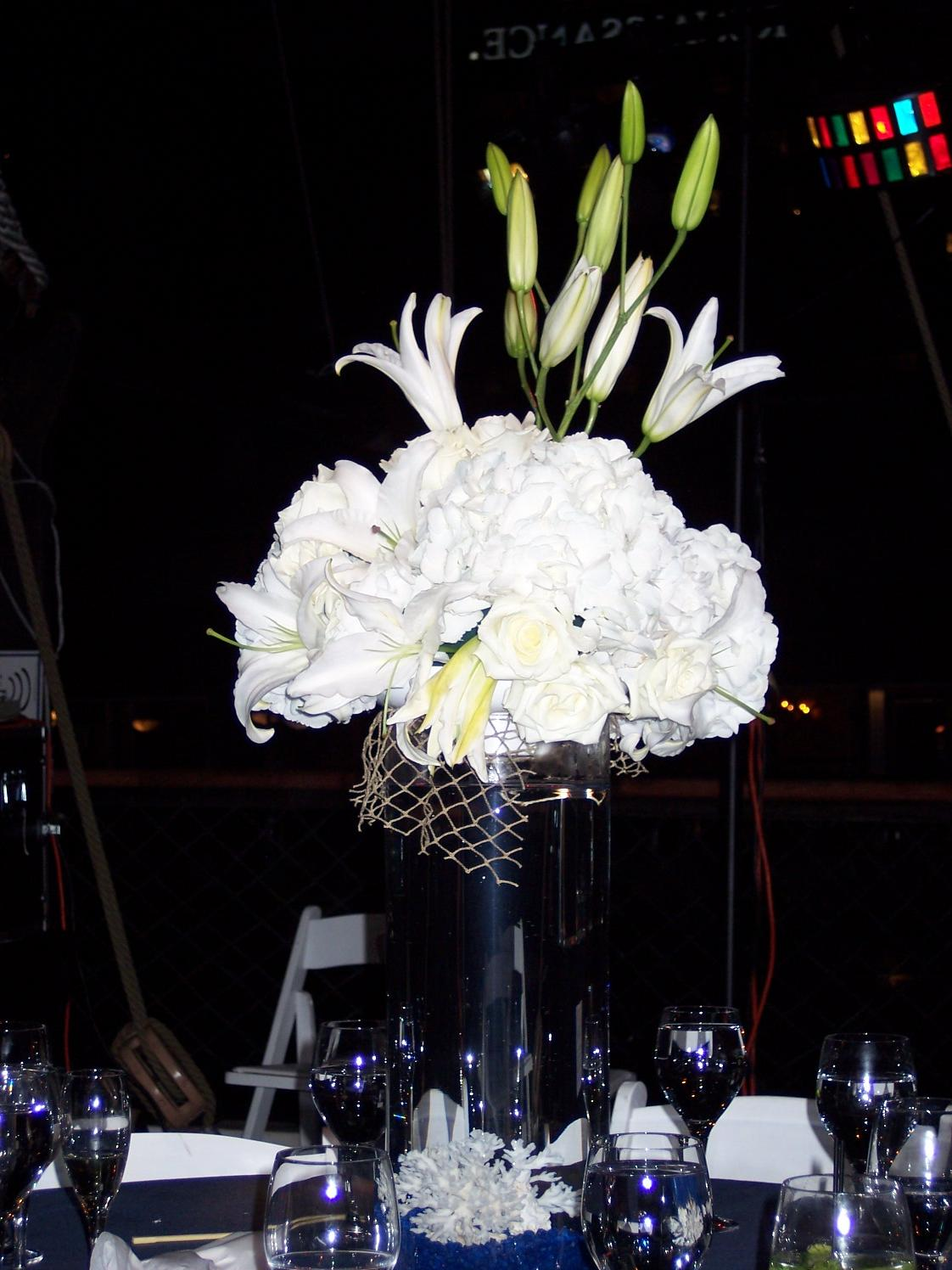 Bernadine 39 s blog a perfect wedding dress or a for Fish centerpieces wedding receptions