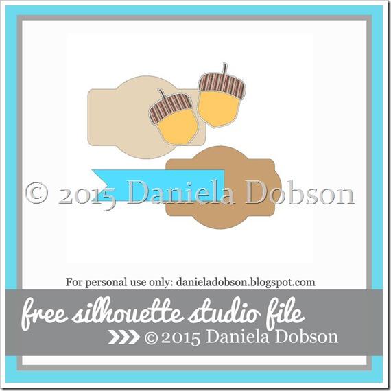 Card kit Monday Acorns and tags by Daniela Dobson