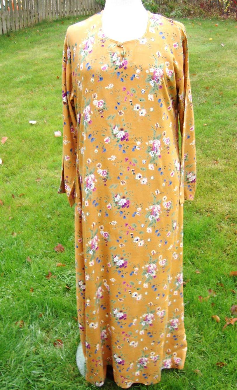 Printed yellow long dress for