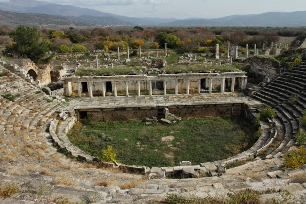 Lovely amphitheater of Aphrodisias, Turkey