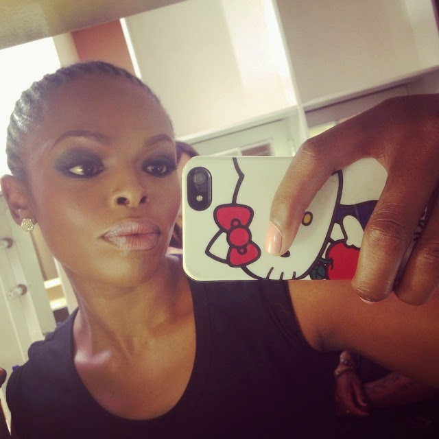 Unathi gave a us a selfie before idol SA signing.