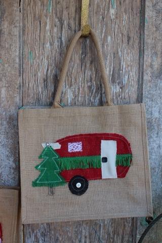 Glamper / vintage camper tote bag or gift sack