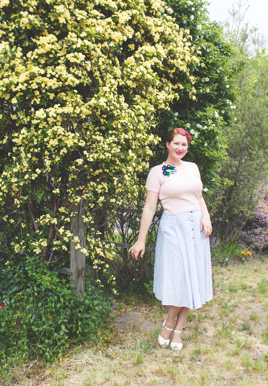 Sweet 1950's look with repro garments | Lavender & Twill