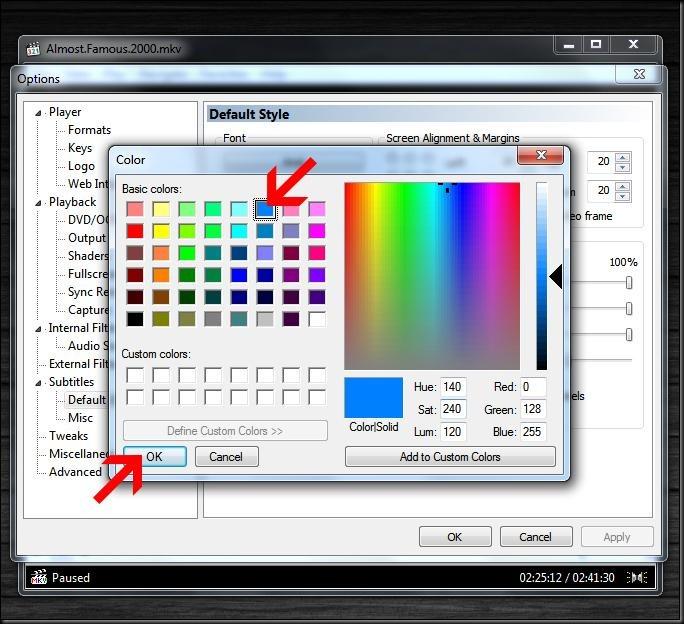 cara mengatur subtitle warna bahasa