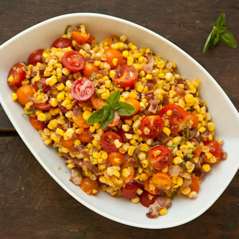 Sweet Corn, Bacon, and Tomato Salad