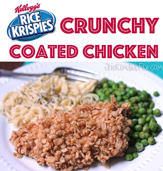 Rice krispies crunchy coated chicken