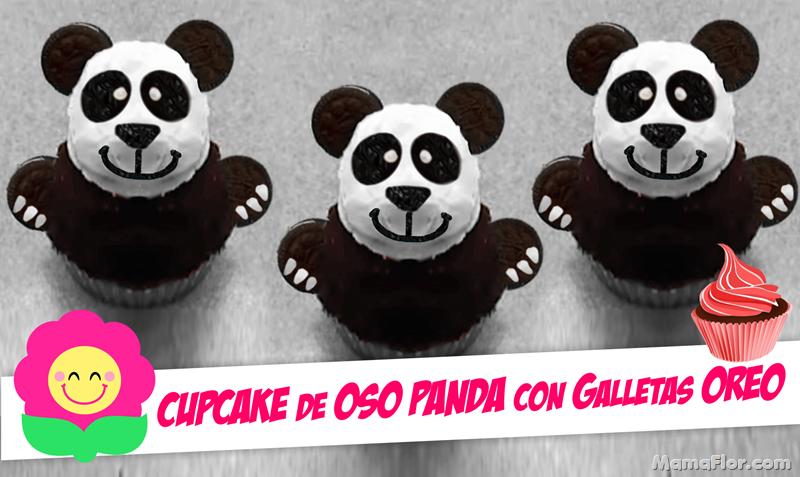 Cupcake Oso PANDA de galletas OREO