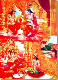 [Krishna starting the disciplic succession]