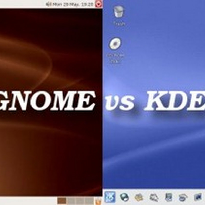 KDE Plasma and Unity Gnome Comparison.