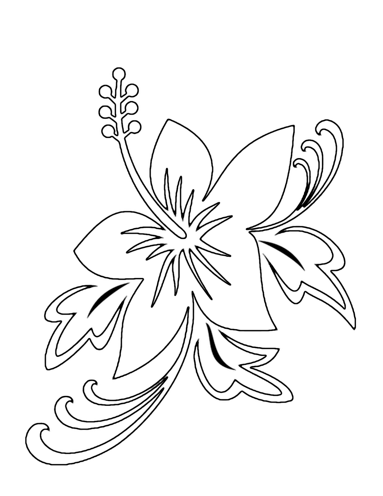 Free flower coloring pages from theKidzpage -- Printable - flower coloring pages free printable