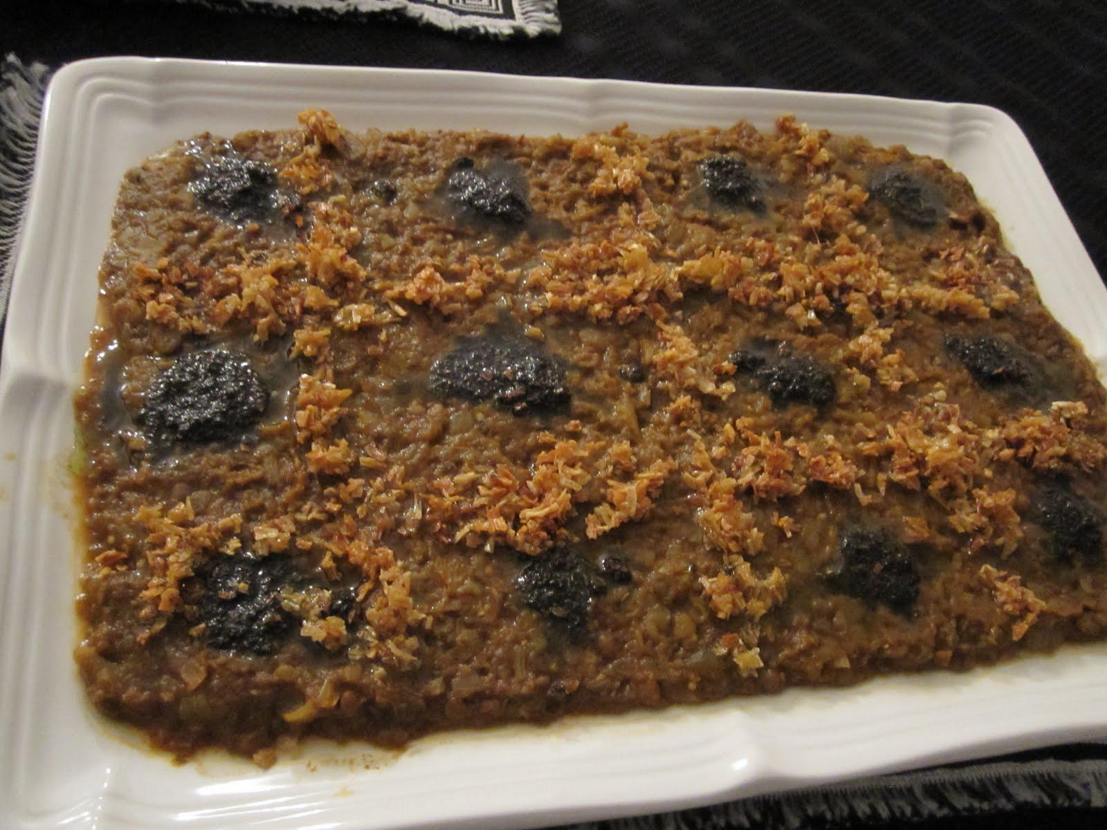 lentil - Eggplant with