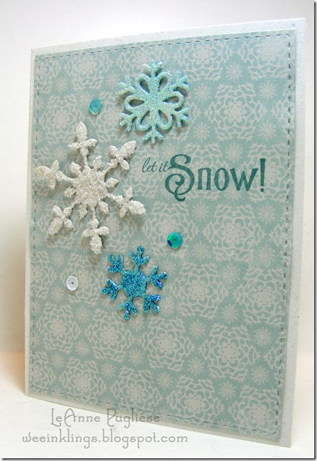 LeAnne Pugliese WeeInklings Paper Players 273 Let it Snow Christmas Snowflake Waltzingmouse