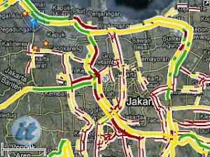 Arus lalu lintas di peta Google
