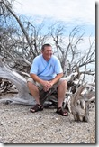 Andy on driftwood