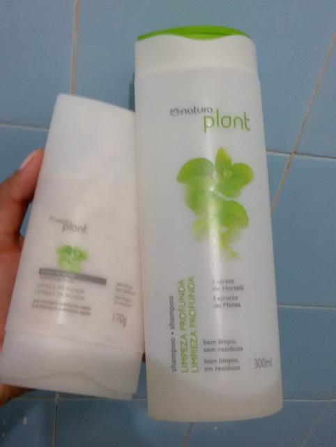 Pré shampoo e Shampoo de limpeza profunda Natura Plant