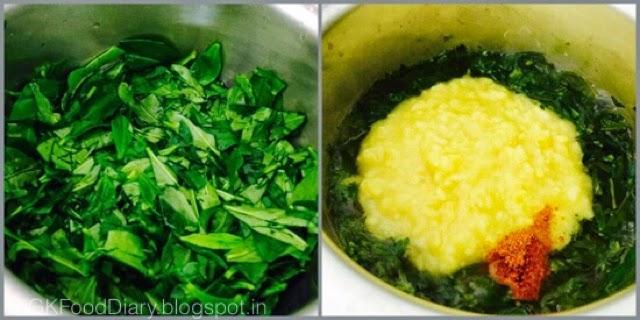 Ponnanganni Keerai Kootu Recipe (with Moong dal)| Kootu Recipes 4