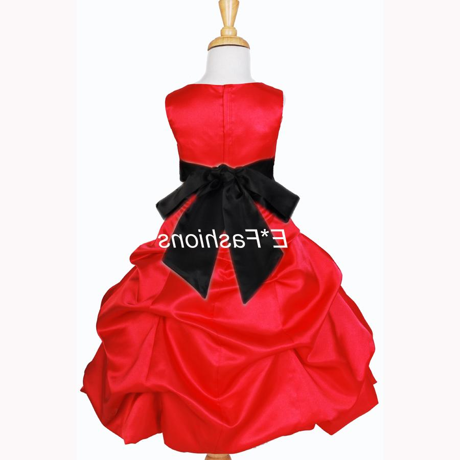 RED BLACK WEDDING FLOWER GIRL