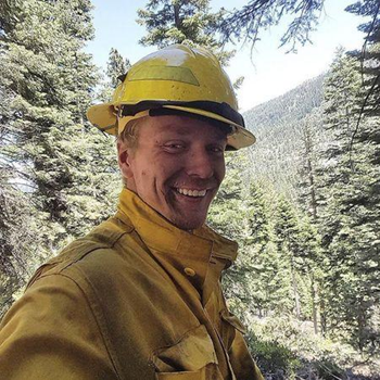 Firefighter Michael Hallenbeck is shown in this handout photo provided by the United States Department of Agriculture Forest Service (USDA) in Vallejo, California, 10 August 2015. The 21-year-old Sacramento-area man became the second California firefighter to die battling wildfire in 2015. Photo: REUTERS / USDA