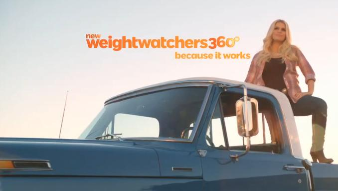 Jessica Simpson Has A Special Announcement In The New Weight Watchers 360 TV Commercial