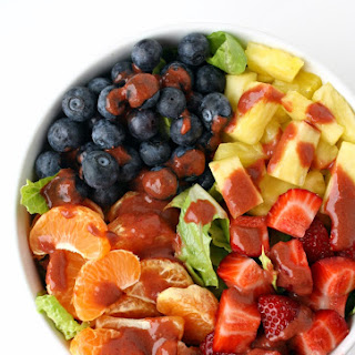 Fruit Salad with Strawberry Vinaigrette