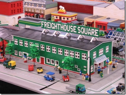 IMG_0814 Freighthouse Square on the Puget Sound Lego Train Club Layout at the WGH Show in Puyallup, Washington on November 21, 2009