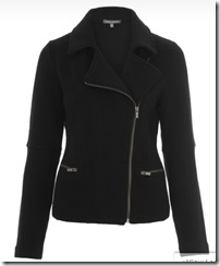 Black boiled wool biker jacket