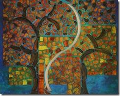 Mónica-Sarmiento-Castillo-árbol-y-nochemixta-100x120cm