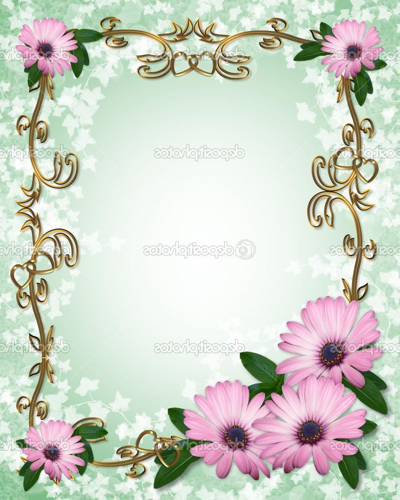 Lavender daisy design template