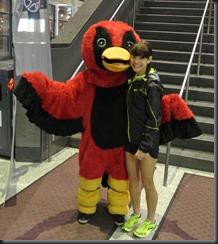 Red Hawk mascot