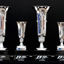 2014 Formula One Spanish Grand Prix Winners trophies