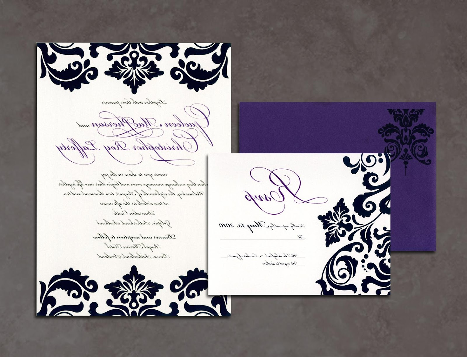 in wedding invitations and
