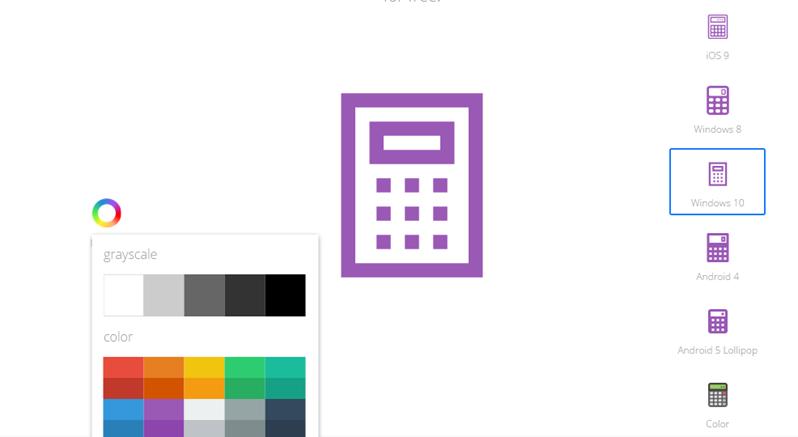 Paquete con más de 200 íconos estilo Windows 10